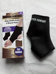 Wholesale 30pcs Copper Fiber Comfort Ankle Support Protector Band Elastic Brace Ankle Protector Sports Safety Sock Stretched Ankle Support