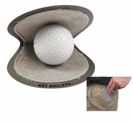 Wholesale Best Seller Brand New Ballzee Pocker Golf Ball Cleaner Terry Lined Plastic Wet Inside Dry in Pocket Grey