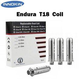 Wholesale Authentic Innokin Endura Prism T18 Replacement Coil Head Ohm Vaporizer Coil Organic Cotton pc in Pack Vs SMOK TFV4 Coils