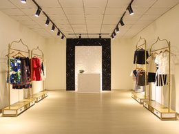 Pastoral Iron clothing store display hanger rack wedding dress cheongsam-style display rack garment rack floor