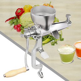 Wholesale New Arrival Special Offer stainless steel Round Charging Port Shape Manual Healthy Wheatgrass Juice Extractor Citrus Juicer