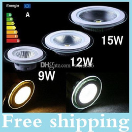 CREE LED Downlight Light 9W 12W 15W Round Dimmalbe COB Led Recessed Ceiling light Bulb Lamp Warm Cool White AC85-265V CE RoHS UL