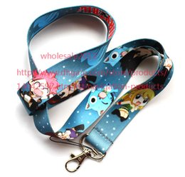 Free shipping Lot 10pcs lot Fairy Tail neck Lanyard Cell Phone PDA Key ID Holder long strap wholesale