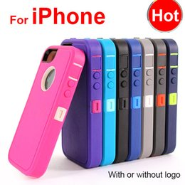 Wholesale Hybrid in Robot Case for iPhone plus S C PC TPU Cover Defender with Front Screen Belt Clip Packing DHL