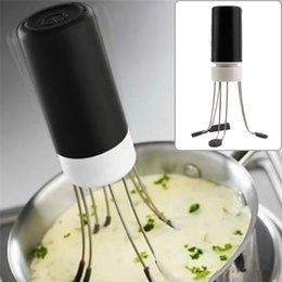 Wholesale Hot Sales Food Sauce Auto Stirrer Blender Kitchen Gadgets Utensil TPE PP Stainless Steel Silicone JA11