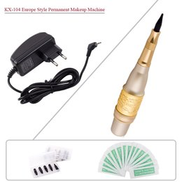 Wholesale Europe Style KX Professional Tattoo Machines Gold Permanent Makeup Eyebrows Pen Cosmetic Tattoo Machines