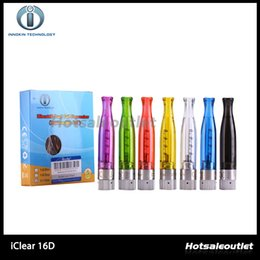 Innokin iClear 16D Bottom Dual Coil Clearomizer Replaceable Coil Head 2.0ml Clearomizer Fit For iTaste CLK Vision Spinner