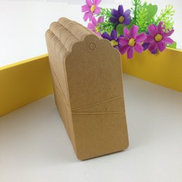 Wholesale cm Creative Kraft Tags Garment Tags Blank Price Tags Blank Paper Cards DIY Gift hang Tags Clothing Tag labels