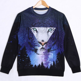 Harajuku sweatshirt men hoodies white tiger 3D printed sweatshirts men pullover 2015 tracksuit for woman winter clothes