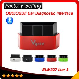 Wholesale 2016 New Arrival Elm Vgate iCar Bluetooth OBDII OBD2 ELM327 iCar3 Bluetooth Diagnostic Interface For Android IOS PC