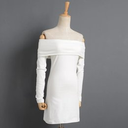 European and American autumn and winter women's wear new quality wool dress with a thin knit dress