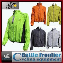 Wholesale Tour de France200g full sleeve polyster cycling sports wind rain coat jacket breathable windproof waterproof ridingwear clothing