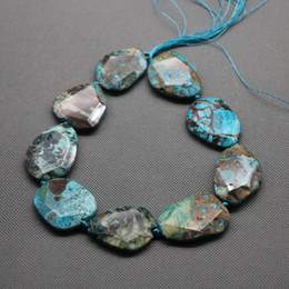 Wholesale 15 inch PC Strand Aqua Sea Ocean Jasper Beads mm Natural Jewelry Gemstone Drusy Druzy Agate Necklace Pendant Necklaces Connector