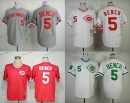 Wholesale cincinnati reds johnny bench Baseball Jersey Cheap Rugby Jerseys Authentic Stitched Size