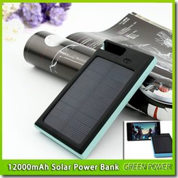 12000mAh universal 2 USB Port Solar Power Bank Charger External Backup Battery With Retail Box For iPhone iPad Samsung cellpPhone charger