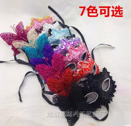 Wholesale 2016 Masquerade Ball Masks Mardi gras sexy masks for beauty women with side Artificial flower Halloween Christmas wedding party decorations