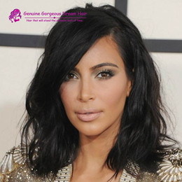 Bob Haircut Brazilian Hair Lace Front Wig short wavy full lace human hair wig for black women