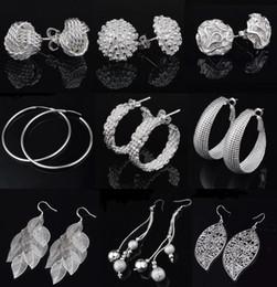 Top Grade Silver stud Earrings Hot Sale Special Offer Drop Chandelier Earrings For Women Girl Party Jewelry Wholesale Free Ship 0022YDH