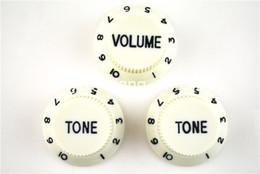 Las perillas de control de la guitarra eléctrica de las perillas del tono 1 Volume2 de la menta 1 para el envío libre de la guitarra del estilo de la defensa de la defensa venden al por mayor desde perillas guitarra fender proveedores