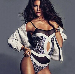 Wholesale sexy Biquinis Luxury Women Clothing Retor One pieces swimwear Sexy mesh swimsuit Floral Monokini triangle Cut Out Bathing