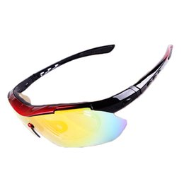 Polarized Eyewear Glasses Outdoor Bicycle Cycling Sunglasses Mountain Bike Goggles for Men Women 5 Lenses Red Blue White Black