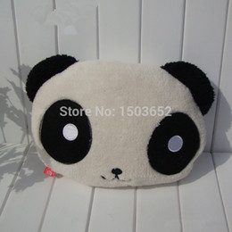 2017 oreillers panda en peluche 35 * 22 * 12 cm Car Cartoon peluche Oreiller Jouets Poupée Panda belle douce peluche peluche Oreiller Coussin de cadeau d'anniversaire de Noël 1 Pcs oreillers panda en peluche sortie