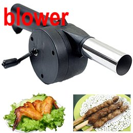 Wholesale New BBQ Fan Hand Fan Cranked Outdoor Picnic Camping BBQ Barbecue Tool Fan Blower Barbecue Fire LHM089