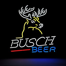 Wholesale Revolutionary Neon gift Budweiser Busch Deer Neon Beer Signs Beer Signs Neon Signs Pub Bars quot x15 quot Available multiple