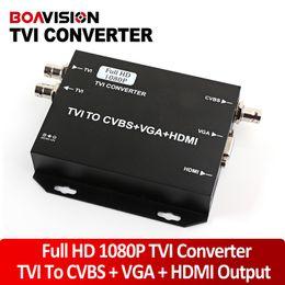 2016 convertisseurs vidéo Signal HD 2016 NOUVEAU TVI caméra vers HDMI / VGA / HDMI CVBS Converter soutien + VGA + CVBS (BNC) Sortie 1080p 25 / 30Hz HD Video Converter Noir convertisseurs vidéo offres