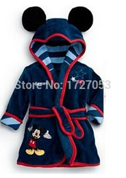 Wholesale The boy girl bathrobe children s cartoon bathrobe color home robe Manufacturers selling fan cartoon design