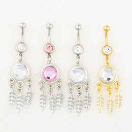 Wholesale 0541 body jewelry Nice style Navel Belly ring mix colors stone drop shipping factory price