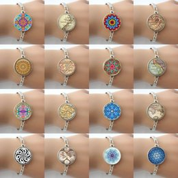 Hot sale ! Summer style jewelry -Glass cabochon dome art photo charm bracelet vintage bangle for women HP08