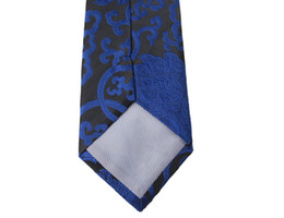Free shipping,New men, Silk Tie, Male Tie, Silk,Chinese Dragon,Chinese style, National Wind, Wedding Tie, Black Bottom Blue