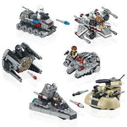 6pcs set 78085 Stars Wars warships spaceship clone wars stars wars troopers ships Building Blocks minifigures baby toys