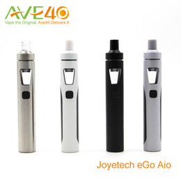 Wholesale Anthenic Joyetech eGo Aio Electronic Cigarettes Starter Kit With BF ss316 mAh ego aio Battery ml Capacity Top Air Flow Never Leak