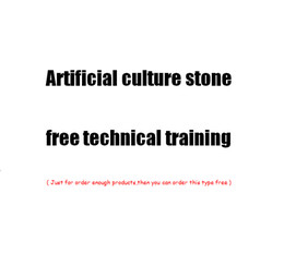 Wholesale Advanced building Decorative materials Design Cement wall brick Artificial Stone Production Technology Hands on on site chnical training
