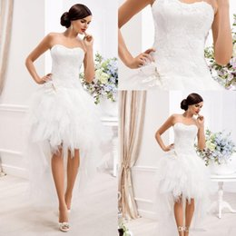 Short A Line Lace Wedding Dresses Sweetheart Sexy Backless Appliques Knee Length White Tulle Skirt Garden Bridal Gowns Bridal Dresses