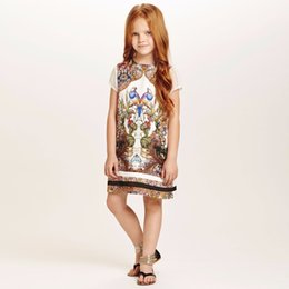 Wholesale Wlmonsoon Kids Clothes Girls Dresses Brand Girls Summer Dress Princess Costume Animal Floral Print Kids Dresses for Girls Clothes