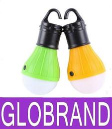 Wholesale 2016 bombillas CFL Nuevo Diseño colgante al aire libre de la linterna LED de camping Carpa del bulbo de la lámpara luz de la pesca luz suave GLO88