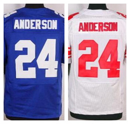 Wholesale Factory Outlet New Ottis Anderson Retired Men Elite Football Jersey Anderson stitched jerseys size M XL blue red white jerseys