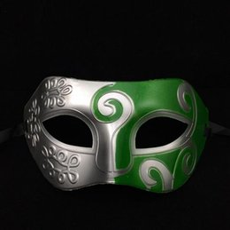 Wholesale Ancient Greek and Roman gladiator mask Spray painting Masquerade Mask masks prince halloween masks for adults
