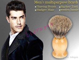 Wholesale Men Shaving Brush Badger Hair Wooden Handle Home Use Barber Tool Best BADGER Hair Shaving Brush