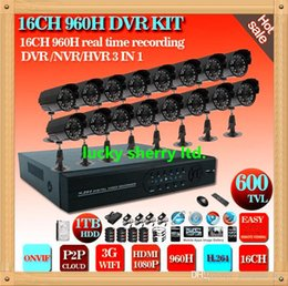CIA-CCTV DVR KIT 16CH CCTV system H.264 DVR 16pcs cctv bullet cameras security surveillance kit Home security system with 1000GB HDD