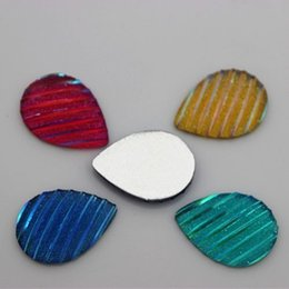 200PCS 13*18mm Resin Rhinestone color Drop Flat back DIY Beads ZZ39