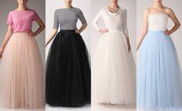 Custom Made Floor Length Skirts 2015 Free Size A-line Tulle Women Party Skirts Tulle Tutu Gauze Lady Casual Dresses Women Clothing