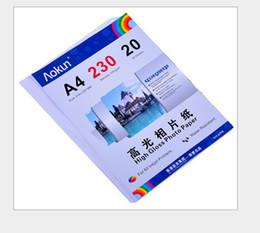 Impresoras de inyección de tinta gratis en Línea-Expreso gratuito A4 (210 * 297 mm) 230g 20 hojas de papel fotográfico de alto brillo impermeable Papel fotográfico Papel tinta, Por una variedad de impresoras de inyección de tinta