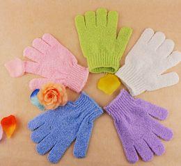 Wholesale 2015 New Arrival Feel good Exfoliating Skid resistance Massage Shower Bath Sponge Gloves