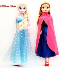 Wholesale Hot Sale Princess Elsa and Anna Baby Girls Dolls Cinderella Olaf Sven Kids Cartoon Toys for Girl Sharon Doll Brinquedos Meninas DD001