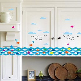 Wholesale Popular Wall Stick Fence The Anchor Line Skirting Stickers decor wallpaper HDE_00C