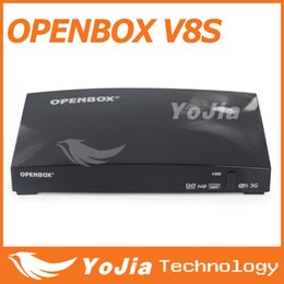 Wholesale 10pcs Openbox V8S Satellite Receiver S V8 SV8 Support WEBTV Biss Key x USB Slot USB Wifi G Youtube Youporn CCCAMD NEWCAMD